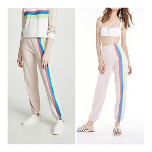 🆕WILDFOX Striped Beach Sweatpants/Sz:M/NWT